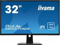 "Монитор Iiyama 32"" ProLite XB3270QS-B1 черный IPS 4ms 16:9 DVI HDMI M/M матовая HAS Pivot 1200:1 250cd 178гр/178гр 2560x1440 DisplayPort"